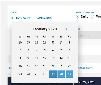 start and end dates
